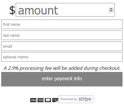 payment processing fee